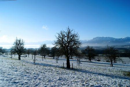 Aussicht Winter Archehof Neuhof