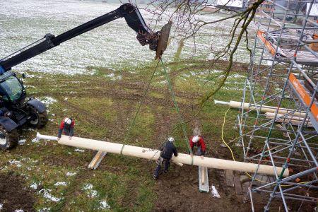 Baumhaus Renovation Stützpfeiler Archehof Neuhof
