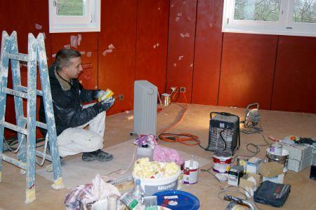 Baumhaus Renovation Malerarbeiten Archehof Neuhof
